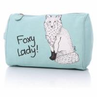 Foxy Lady WashBag in Pale mint green