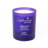 Amethyst Affirmation Candle - Lavender - Calm and Wisdom