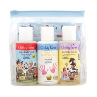 Childs Farm top-to-toesie Gift Set. Hair and body wash, Hand and body lotion and bubbles