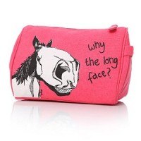 Why the long face horse washbag in pink