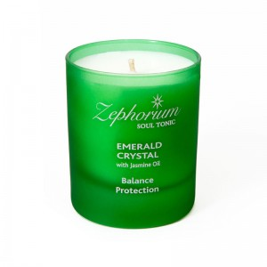Emerald Affirmation Candle for Balance and Protection