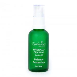 Aura Spray for Balance and Protection - Green Emerald Crystal, Jasmine