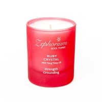 Affirmation Candle - Ruby - Ylang Ylang - Strenght and Grounding