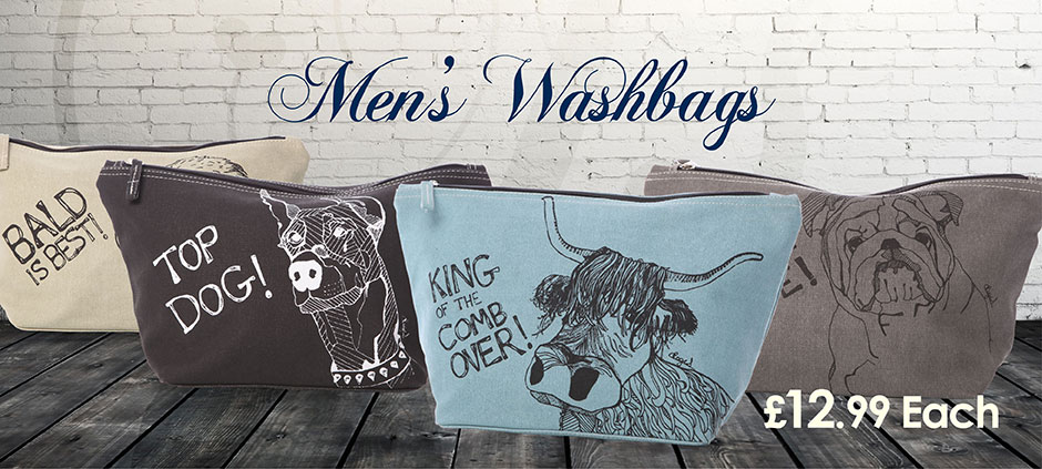 Mens Wash Bags now £12.99