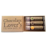 Chocolate Lovers Lip balm gift set open