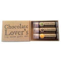 Chocolate Lovers Lip balm gift set open