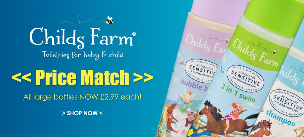 Childs Farm Price Match - 25% off to match all Boots Stores.