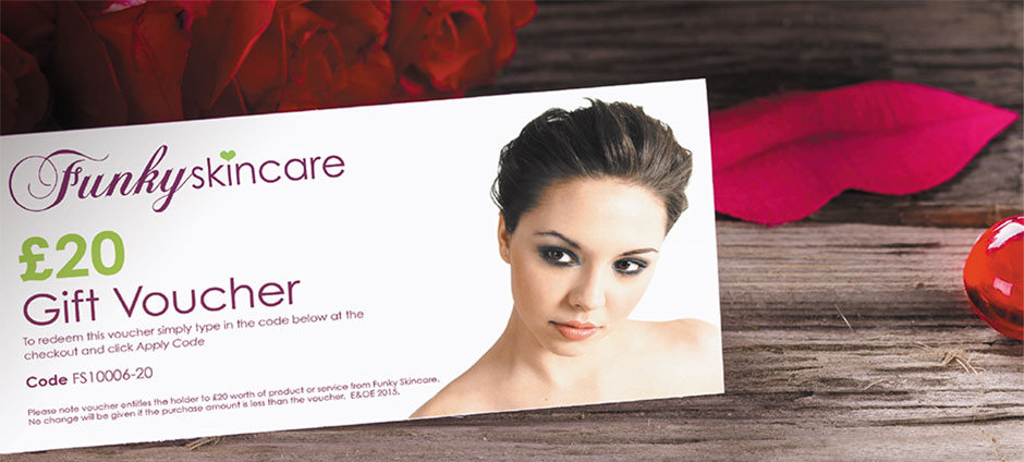 Funky Skincare gift vouchers