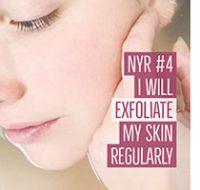 New Year Resolution - I will exfoliate my skin