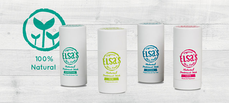 Elsas Organic Skinfoods deodorant collection