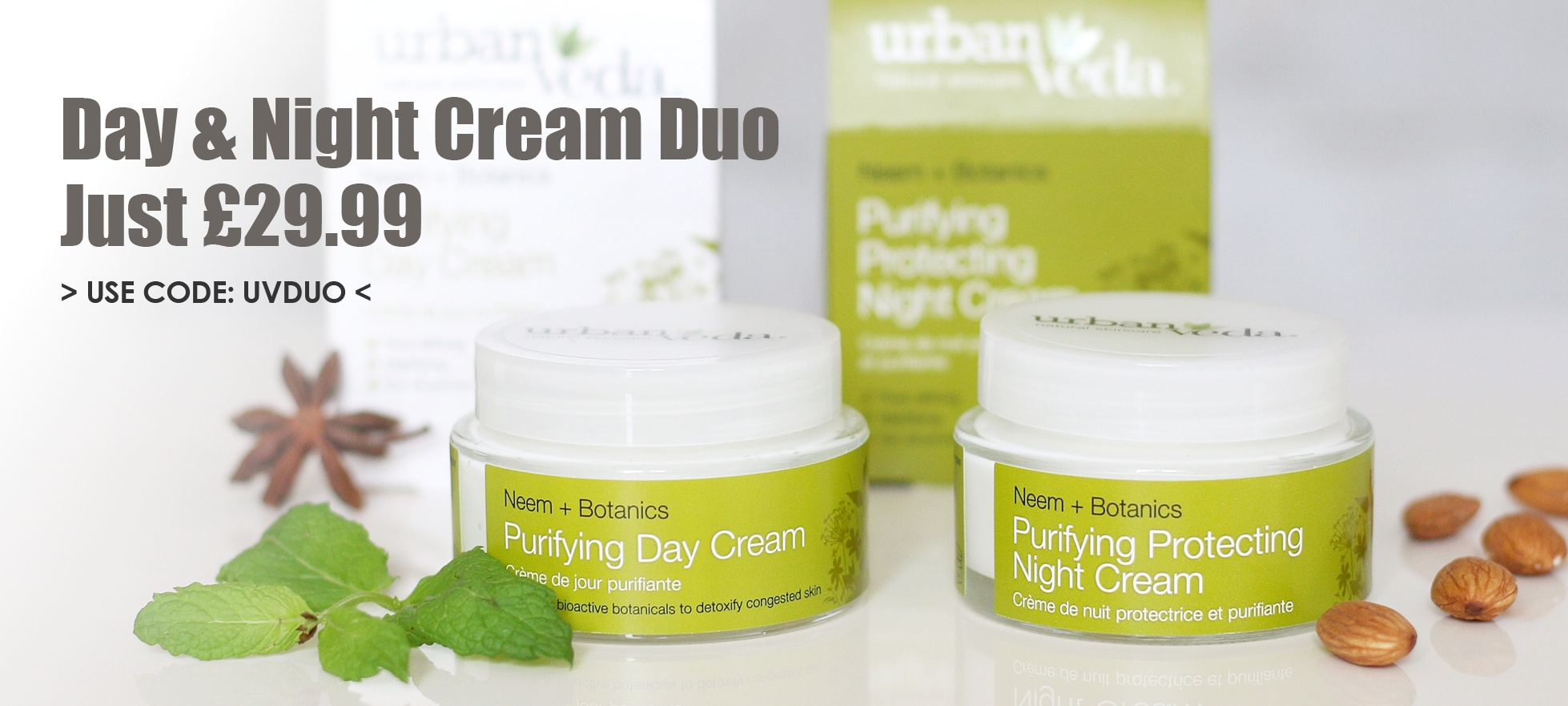 Urban Veda Cream Day and Night Duo for £29.99